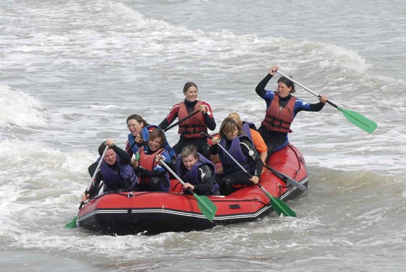 Beach sporten rafting